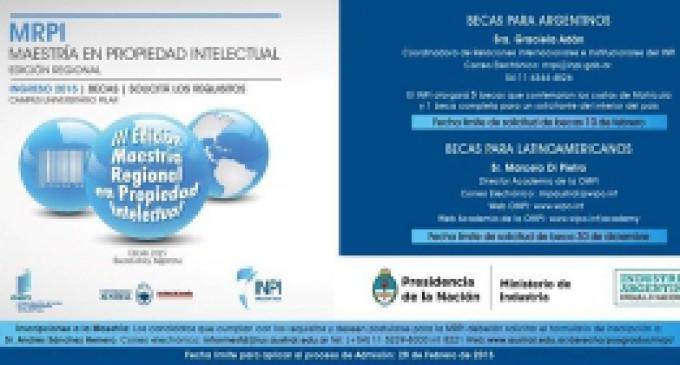INPI – Tercera Edición Maestría Regional en Propiedad Intelectual