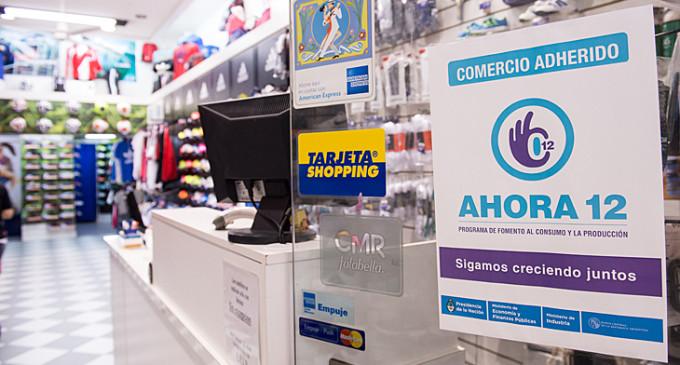 La cantidad de comercios adheridos a Ahora 12 crece cinco por ciento por mes