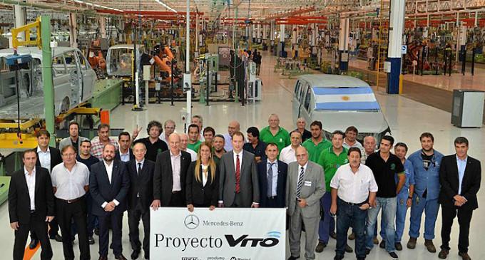 Mercedes Benz comenzó a producir una nueva van en su planta de Virrey del Pino