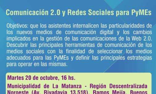 """SEMINARIO """"COMUNICACION 2.0 Y REDES SOCIALES PARA PYMES"""""""