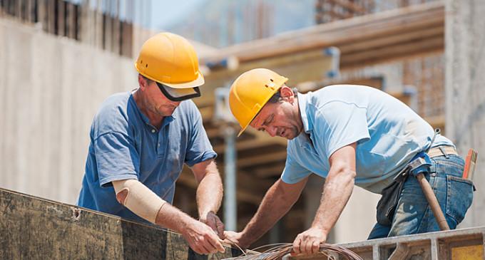 En agosto, el empleo formal creció 9,7% en la construcción