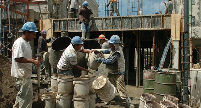 El empleo formal creció 9,5 por ciento en la construcción