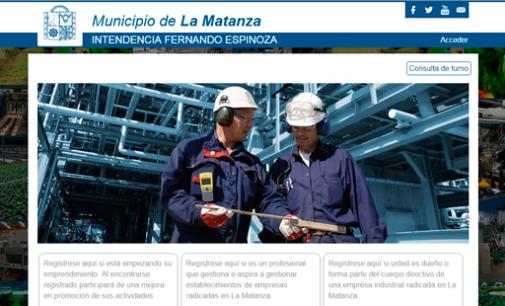 "Nuevo sitio web ""Matanza Produce"""