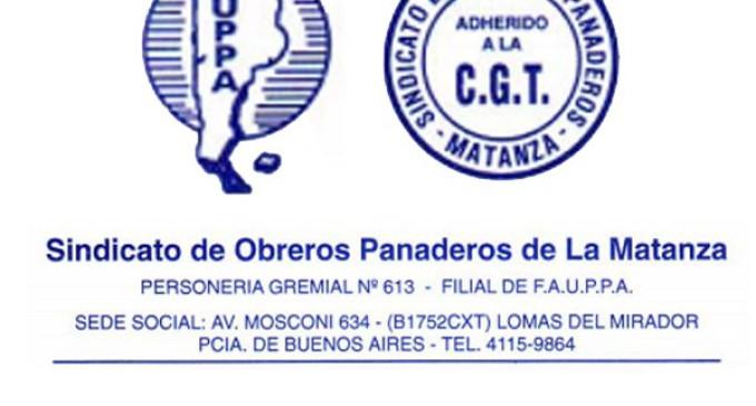 Sindicato de Obreros Panaderos Matanza: convocatoria Asamblea Ordrinaria