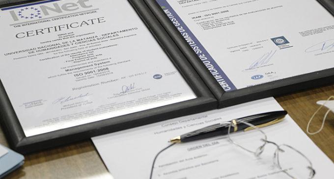 La UNLaM certificó normas de calidad en su Departamento de Humanidades