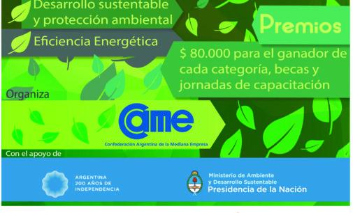 CAME lanza la segunda edición del concurso «Poné tu energía para cuidar el ambiente»
