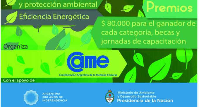 """CAME lanza la segunda edición del concurso """"Poné tu energía para cuidar el ambiente"""""""