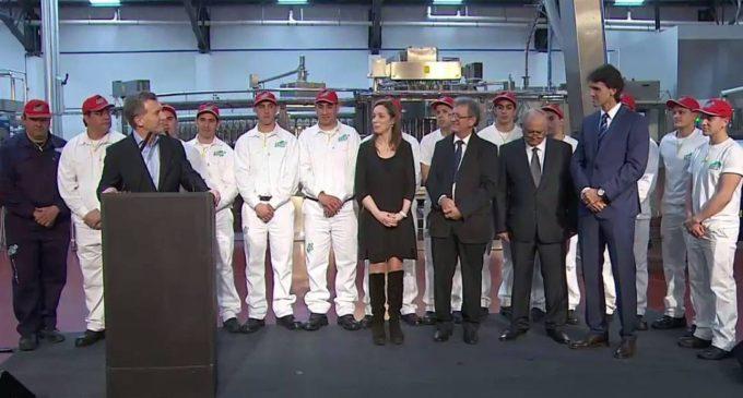Finalmente, Mauricio Macri visitó la planta de Manaos en La Matanza