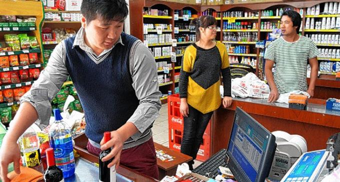 En los supermercados chinos, el consumo continúa en caída libre