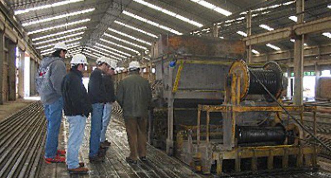 En noviembre, continuó la caída en la producción de acero
