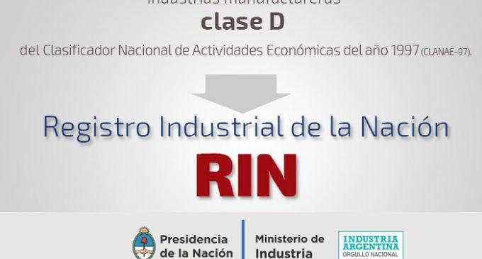 Comunicado UIPMA: RIN – Registro Industrial de la Nación