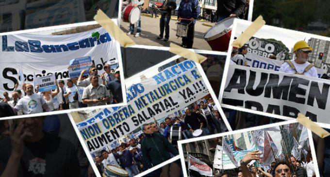 """Crece la conflictividad social: se avecinan huelgas de bancarios y docentes por """"techo paritario"""" y movilizan la UOM y las pymes con la CGT por crisis en industria"""