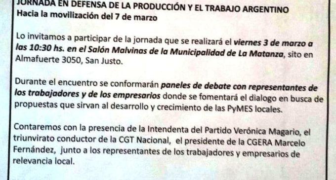 Jornada en Defensa de la Producción y el trabajo Argentino