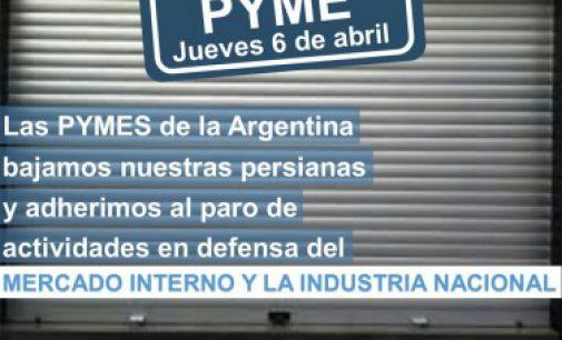 Seis entidades Pymes anuncian adhesión al paro del jueves