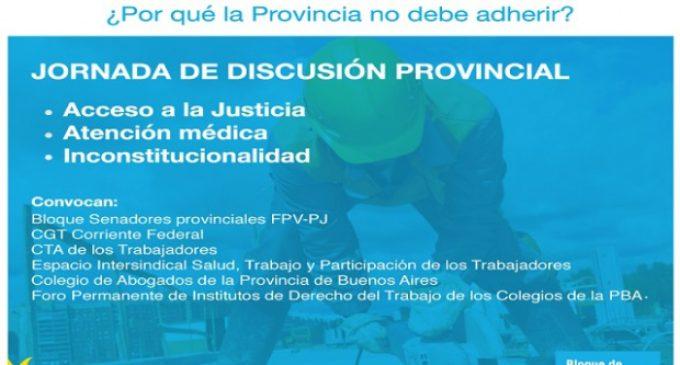 Propician que Provincia no adhiera a la nueva Ley de Riesgos del Trabajo