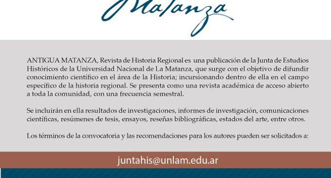 """Llegó """"Antigua Matanza"""", la primera revista digital académica de historia regional"""