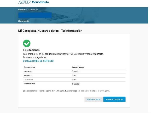 recategorizacion de oficio monotributo La Matanza Empresas