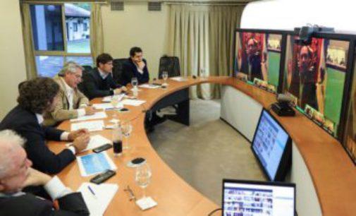 Previo a comunicar la extensión de la cuarentena, el Presidente mantuvo una nueva reunión con gobernadores